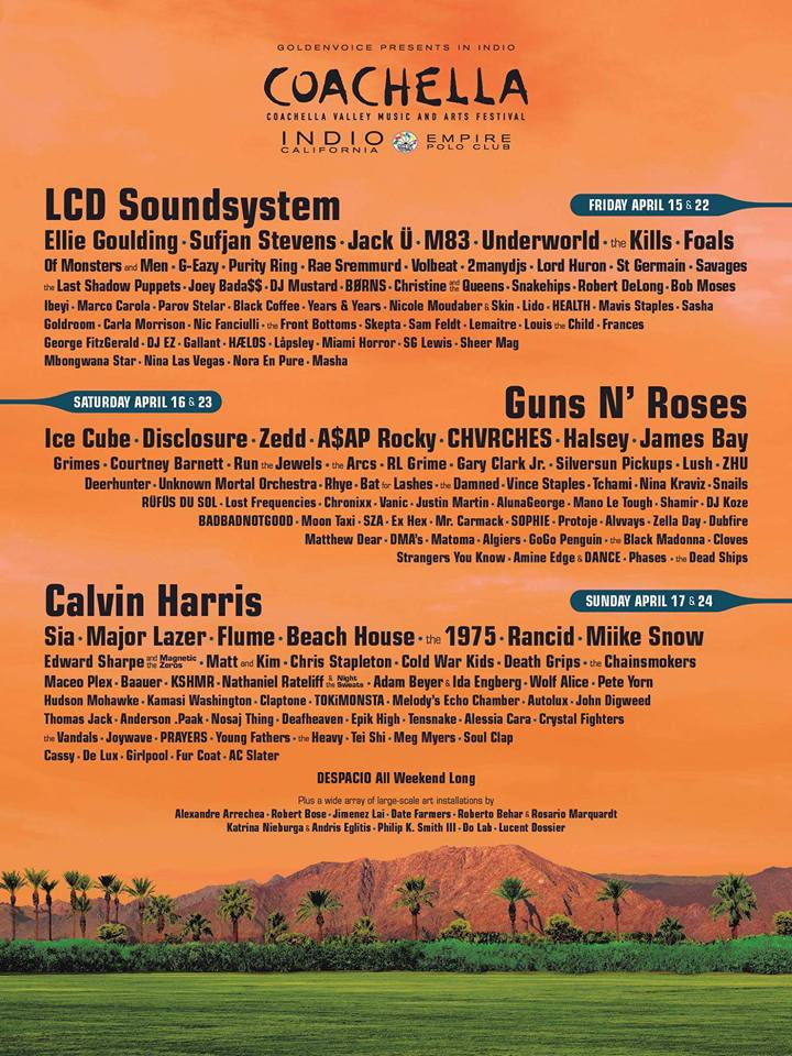 Coachella lineup 2016